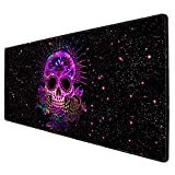 Galdas Gaming Mouse Pad Cool Skull XXL XL Large Mouse Pad Mat Long Extended Mousepad Desk Pad Non-Slip Rubber Mice Pads Stitched Edges Thin Pad (31.5x11.8x0.08 Inch)
