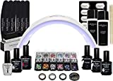 Kit vernis semi permanent nail art  3 vernis à ongles, Primer, Base Coat Top Coat 2en1, Huile cuticules, accessoires & Lampe UV / LED 24W Icone - Coffret Design XXL - Vegan  Méanail Paris
