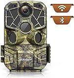 usogood Fototrappola 4K 24MP WiFi Bluetooth con App, Videotrappola Infrarossi Invisibili con 940nm LEDs, Impermeabile IP66 per la Monitoraggio della Fauna Selvatica All'aperto, Telefonica Invio Foto
