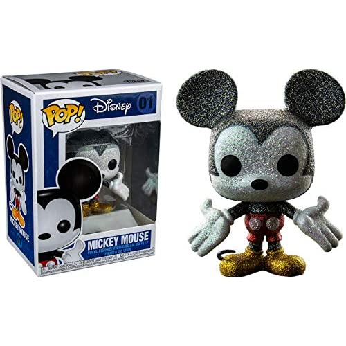 Funko - Figurine Disney - Mickey Mouse Glitter Exclu Pop 10 cm - 0889698218429