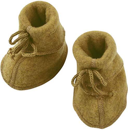 Engel Natur, Baby-Schühchen Fleece, 100% Wolle (kbT) (2 (62/68), Safran Melange)