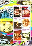Sellos Marilyn Monroe - Celebración de la vida de Marilyn Monroe y Elvis Presley - Casa de la Moneda y la hojita sin montar con 6 sellos