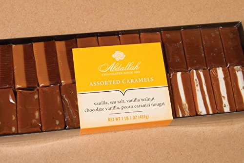 Abdallah Chocolates Assorted Caramels ( 5 Varieties) 1 lb, 1 oz.