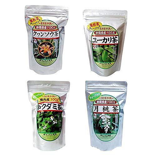 旨いもんハンター オリジナル 沖縄健康茶 4種(クヮンソウ茶・ ドクダミ茶・ユーカリ茶・月桃茶)セット×1セット 沖縄のハーブティー詰め合わせ
