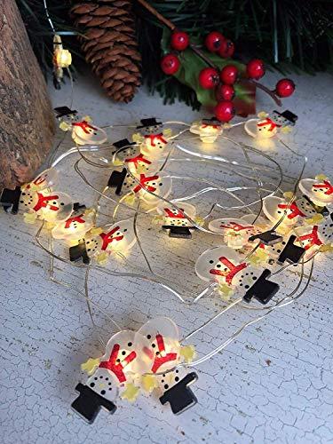 Homes On Trend 20 LED-Weihnachtscharakter entwirft Lichterketten-Silber-Draht-Baum-Girlanden-Batterie