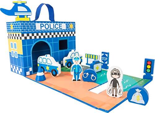 Small Foot 11113 Spielkoffer Polizeiwache FSC® 100% Mehrfarbig
