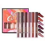 Onlyoily 6 tonos suaves de lápiz labial Sólido, coloración altamente pigmentada que proporciona...
