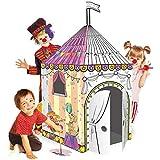 Leo & Emma Spielhaus XXL 102 x 147 cm DIY Doodle Zeichnen Kunst Bastelset für Kinder Pappe...