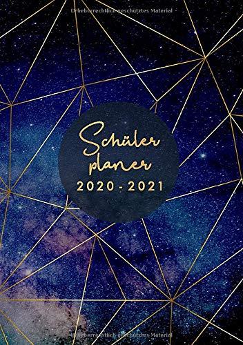 Schülerplaner 2020 2021 A5: Schulplaner 2020/2021 mit Stundenplan,  Motiv Sterne