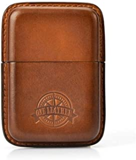 YZT Elegant Style Tree Cream Cowhide Handmade Cigarette Case, 14 Pieces, 14 Pieces Soft and Ultra-Thin Creative Can Be Equipped with Standard Smoke, Vintage Green/Black/Brown,