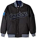 NFL Dallas Cowboys Mens GIII Varsity Jacket, Charcoal, Medium