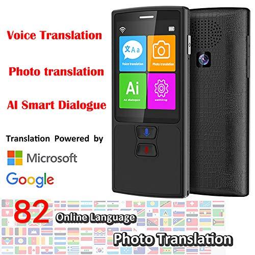 Language Translator apparaat 76 talen Voice Translator WiFi/Hotspot/Offline met camera ondersteuning 137 talen voor reizen of zaken of leren zwart