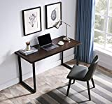 AMOAK Computer Desk 47'', Modern Writing Desk, Simple Study Table,Sturdy Laptop Table for Home Office, Brown