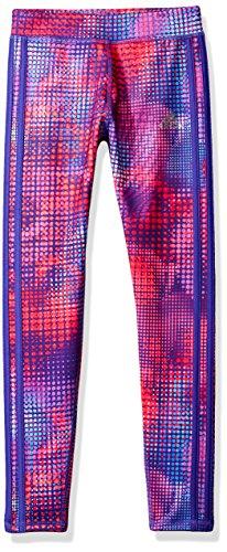 adidas Girls' Big Performance Tight Legging, Purple Dots, M (10/12)