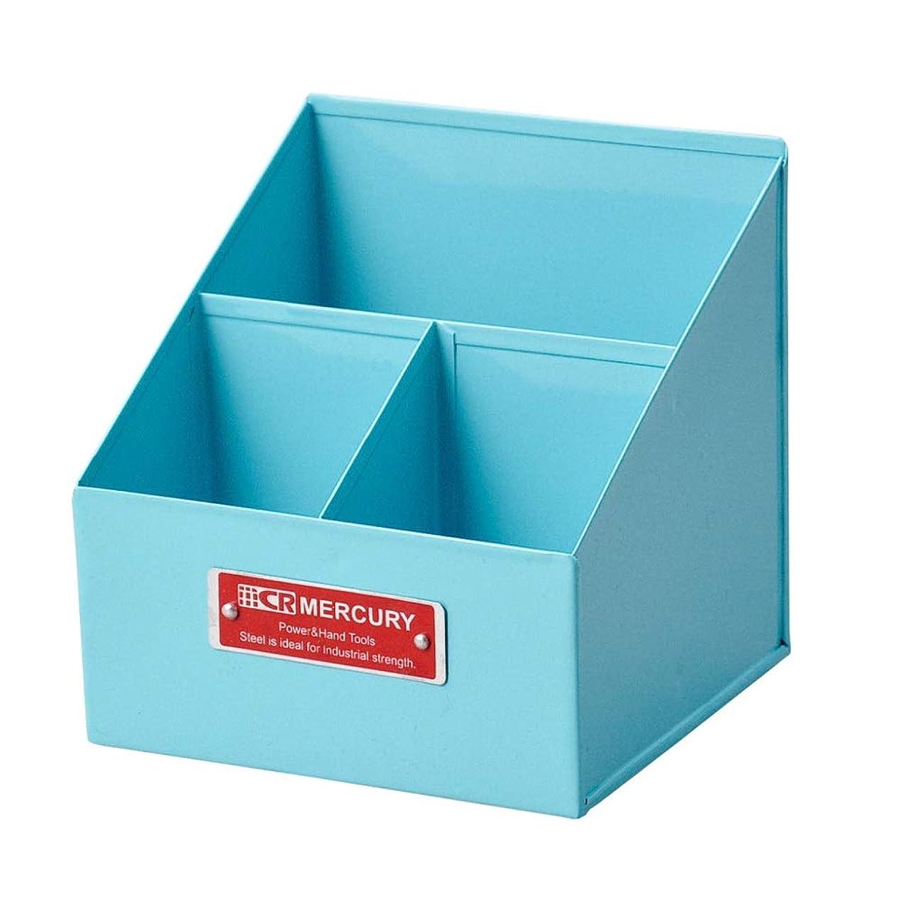 育成退屈天井MERCURY マーキュリー アメリカン リモートツールボックス (ブルー) アメリカン雑貨 アメリカ 雑貨 ツールボックス リモコンケース 卓上 収納 インテリア グッズ