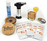Foghat Smoked Old Fashioned Cocktail Kit with Foghat Cocktail Smoker & Singlez Bar Old Fashioned Mix | Just Add Whiskey or Bourbon, Stir, Infuse Smoke & Garnish For Perfect Smoked Cocktail Drinks