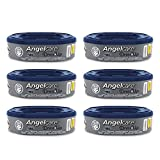 Angelcare - Dress Up - Recharges Octogonales pour Poubelle à Couche Dress up/Essential - Anti Odeurs et Grande Capacité - Lot de 6