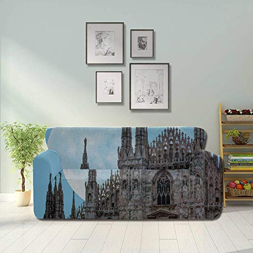ALALAL Unusual Beautiful Milan Cathedral Simple Sofa Cover Sofa Chair Covers Fitted Furniture Protector 2&3 Seat Sofas