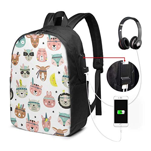 Paragliding Fashion Travel Backpacks for Men and Women, School Laptop Bookbags with USB Charging Port Fit 17 Inch