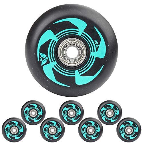 Inline Skate Rollen mit ABEC-9-Lagern 72 mm 76 mm 80 mm 90A Ersatz Rollen für Hockey Skates 8er-Pack,Grün,76mm
