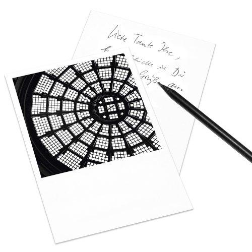 10er-Set Postkarte Leipzig im Polaroid-Look - DIN A6 Hochformat - Motiv: Rotunde