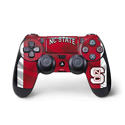 Skinit Decal Gaming Skin for PS4 Pro/Slim Controller - Officially Licensed College NC State Flag Design