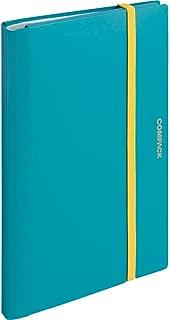キングジム クリアファイル A4 二つ折り コンパック 水色 5894Mミス