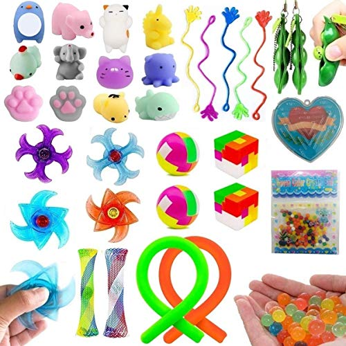 42 Pack Sensory Fidget Toys Set for ADHD Autism Stress Anxiety, Birthday Party Favors Prizes Box, Carnival Prizes for Kids, School Classroom Rewards, Games Prizes, Pinata Fillers, Goody Bag Fillers