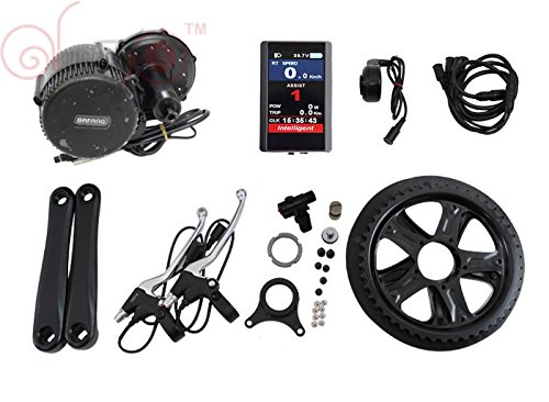 8FUN 36V 350W Bafang Mittelmotor Mid Drive Conversion Kits with Integrated Controller and LCDTFT850C Color Display Tretlagerbreite:68