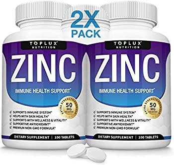 200-Count Toplux Immune Support Pure Natural Zinc Oxide Tablets