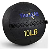 Yes4All 10 lb Wall Ball - Soft Medicine Ball/Wall Medicine Ball for Full Body Dynamic Exercises