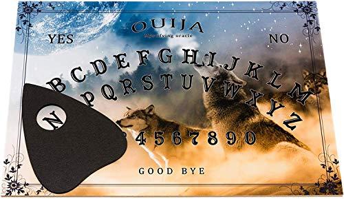 Wiccan Star Hexenbrett Ouija Spirit Board mit detaillierter Anleitung. Gläserrücken wahrsagerbrett traditionelles