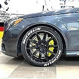 Michelin - Pegatinas permanentes para neumáticos de 1 pulgada para ruedas de 14 a 22 pulgadas, 8 unidades
