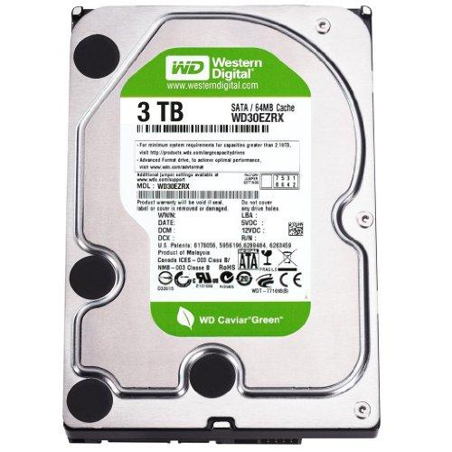 Western Digital Caviar Green de wd30ezrs 3TB 64MB Cache SATA 3,0GB/s disco duro interno de 3,5(Bare Drive)