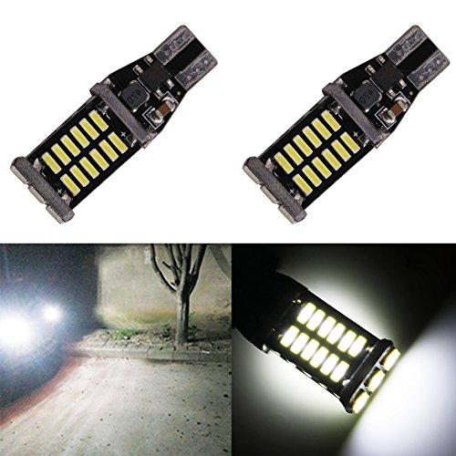 TABEN W16W Ampoules à Del inversées Extrêmement Lumineuses 4014 30-SMD CANBUS T15 912 921 Ampoules à Del Sauvegardez Les Feux de recul 12V 6000K Blanc xénon (Pack de 2)