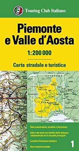 Piemonte. Valle d'Aosta 1:200.000