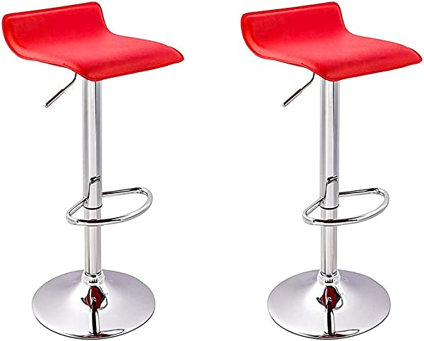 BestMassage 2 Pcs Modern Adjustable Synthetic Leather Swivel Bar Stools Chairs