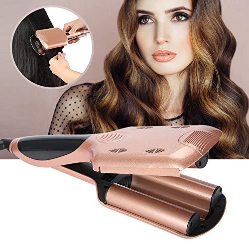 Rizador de cabello profesional, plancha para el cabello, plancha de 2 colores Rizadores de cabello profesionales Spray de vapor Herramienta automática para peinar el cabello(01)