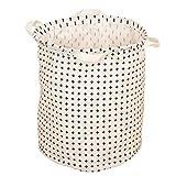 Weimay Lavandería Almacenamiento Cesto Cesta Calcetines Almacenamiento de Juguetes de Almacenamiento Lavandería Organizador de paño con Mangos Negro