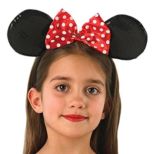 Rubie's 330073 - Minnie Mouse-oren Deluxe, bekleding en kostuums