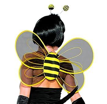 Forum Novelties 78561 Halloween Sexy Bumblebee Sheer Costume Wings Party Supplies One Size Black/Yellow
