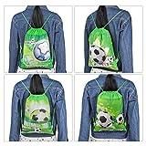 Qpout Fußball Taschen 12 STÜCKE Kordelzug Fußball Rucksack Kindergeburtstag Gastgeschenke Liefert Goodie Taschen für Kinder Mädchen Jungen Kleinkinder - 5