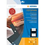 Herma 7786 - Paquete de 10 fundas para fotos (para 40 fotos de 10 x 15 cm), color negro