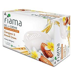 Fiama Gel + Crème Moisturising Bar, Frangipani and Almond Cream, for creamy indulgence, 125 g (Pack of 3)