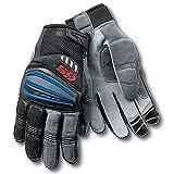 Berrd Guanti da moto in pelle rossi neri per guanti da equitazione blu XXL