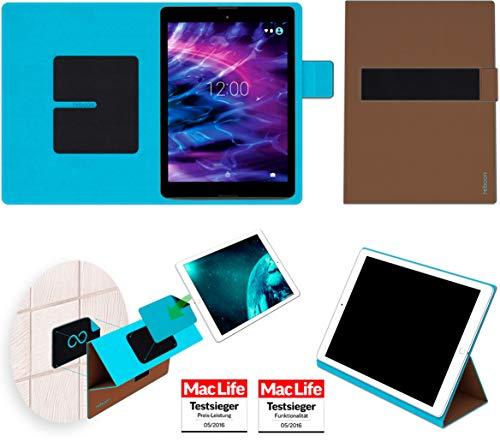 Hülle für Medion Lifetab P9701 Tasche Cover Hülle Bumper | Testsieger | Braun