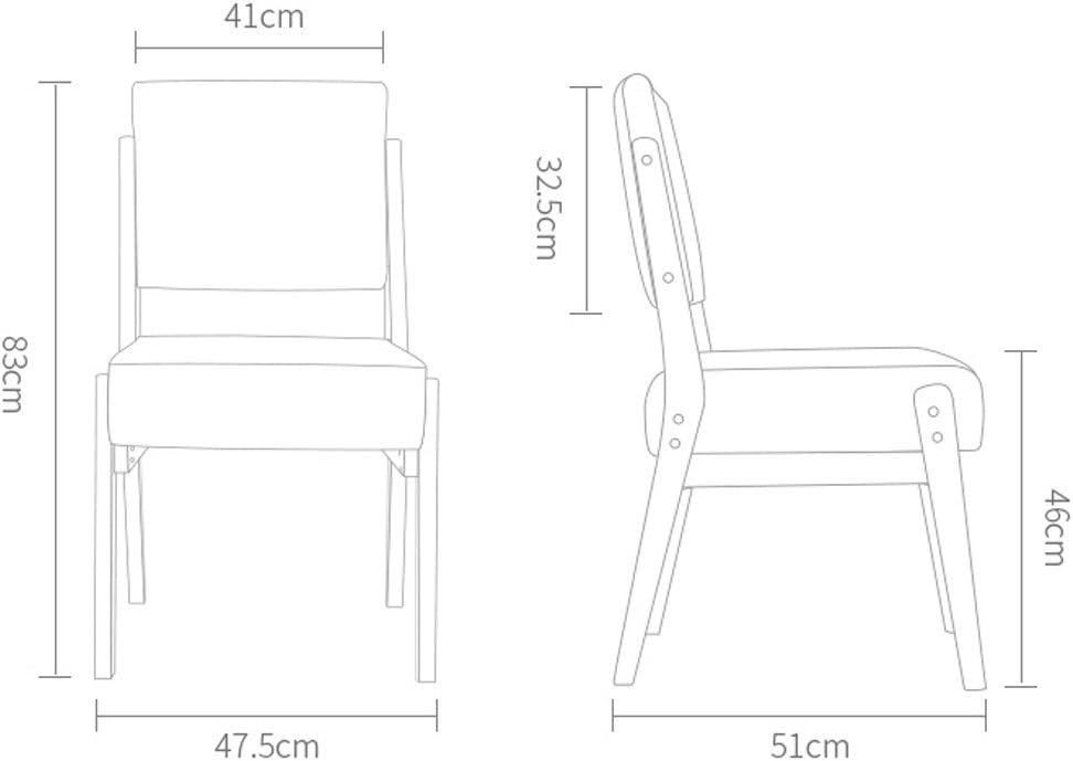 HXF- Chaise de Salle à Manger en Bois Massif Minimaliste Moderne Durable (Color : A) B