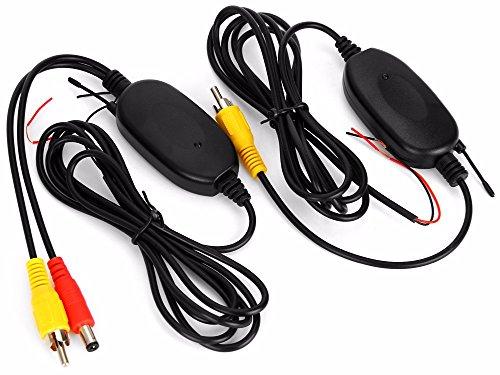 3T6B 2,4 GHz Inalámbrico Vídeo RCA Transmisor y Receptor Kit para la Cámara de Reserva del Coche de la Opinión Posterior del Revés del Monitor Sistema de Estacionamiento