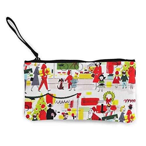 XCNGG Monederos Bolsa de Almacenamiento Shell Christmas Kitchen Fun Fabric Canvas Coin Purse with Zipper Coin Wallet Multi-Function Small Purse Cosmetic Bags For Women Men