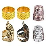 MOPOIN Dedal de 6 piezas retro de metal protector para...